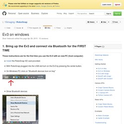 Ev3 on windows · 10imaging/RoboSnap Wiki