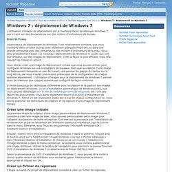 Windows7: déploiement de Windows7