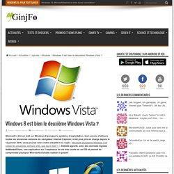 Windows 8 est bien le deuxième Windows Vista