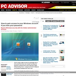 How to gain access to your Windows account if you lose your password