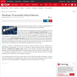 Windows 10 accueille Unity d'Ubuntu