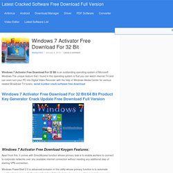 Windows 7 Activator Free Download For 32 Bit