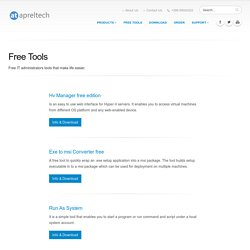 Free Windows IT admin Tools - AprelTech