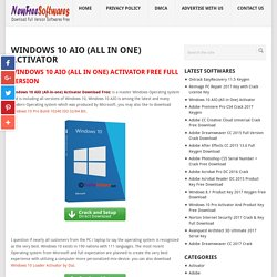 Windows 10 AIO (All in One) Activator