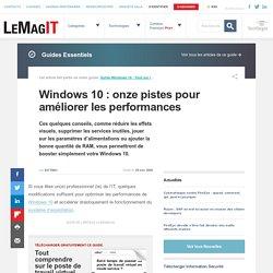 Windows 10 : les petits ajustements de la RAM et des services qui changent tout