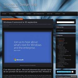 Windows 9 annoncé le 30 septembre