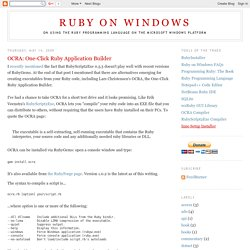 OCRA: One-Click Ruby Application Builder