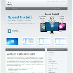 Windows application store - All apps in one