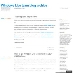 Windows Live team blog - Windows Live