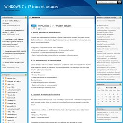 WINDOWS 7 : 17 trucs et astuces - Club Informatik Wavrin