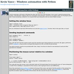 Kevin Vance - Windows automation with Python
