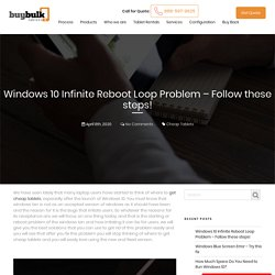 Want to get rid of windows 10 because Reboot loop issue?