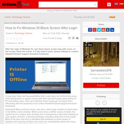 How to Fix Windows 10 Black Screen After Login