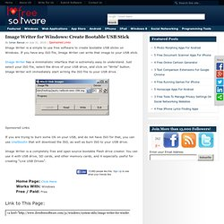Image Writer for Windows: Create Bootable USB Stick