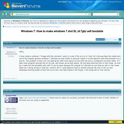 How to make windows 7 dvd SL (4.7gb) uefi bootable Solved