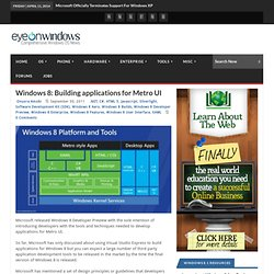 Windows 8: Building applications for Metro UI