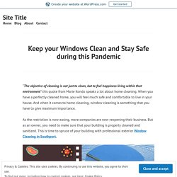 Need to Keep your Windows Clean and Stay Safe during this Pandemic
