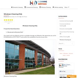 Windows Cleaning FAQ – HD Clean
