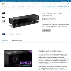 Buy Kinect for Windows v2 Sensor (Commercial) - Microsoft Store United Kingdom Online Store