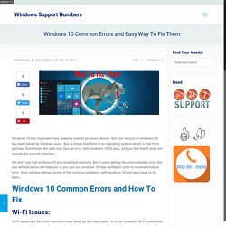 Windows 10 Common Errors and Easy Way To Fix Them