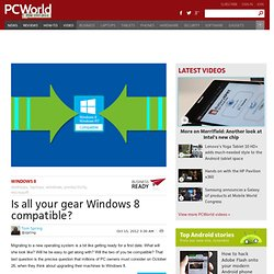 Is all your gear Windows 8 compatible?