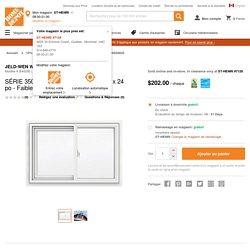 JELD-WEN Windows & Doors SÉRIE 3500 Coulissante en vinyle 36 po x 24 po - Faible émissivité