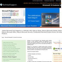 800-961-1963@Windows 10 Customer Service Toll Free Number