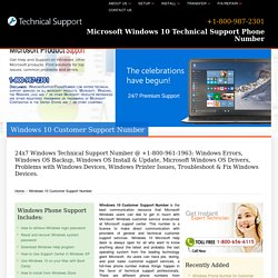 (800) 987-2301-Windows 10 Customer Support Number