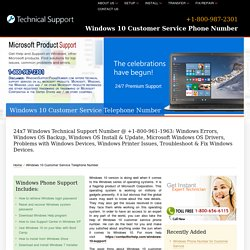 (800) 987-2301-Windows 10 Customer Service Telephone Number