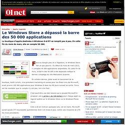 Le Windows Store a dépassé la barre des 50 000 applications
