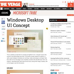 Windows Desktop UI Concept | The Verge Forums