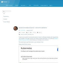 for Windows Desktop... Now With Kubernetes!