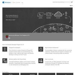 Windows Developer Program for IoT