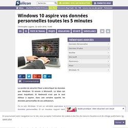 Windows 10 aspire vos données personnelles toutes les 5 minutes