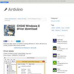 CH340 Windows 8 driver download