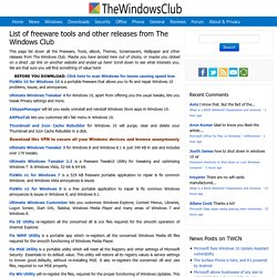 The Windows Club Downloads: List of freeware for Windows 8