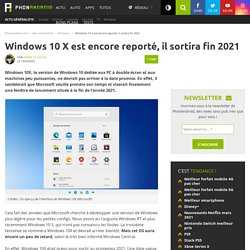 Windows 10 X est encore reporté, il sortira fin 2021