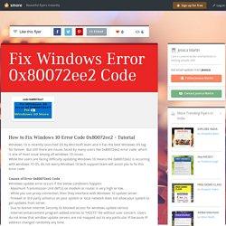 Fix Windows Error 0x80072ee2 Code