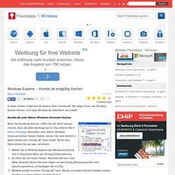 Windows-Explorer – thumbs.db endgültig löschen
