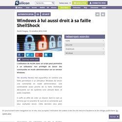 Windows à lui aussi droit à sa faille ShellShock