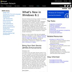 Windows 8.1 - What's New, IT Pro Features, Devices, UI