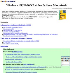 Windows NT et les fichiers Macintosh, data forks, NTFS, streams