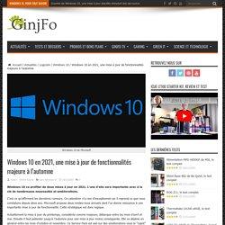 Windows 10 en 2021, une mise à jour de fonctionnalités majeure à l'automne - GinjFo