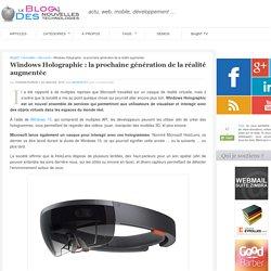 Windows Holographic : la réalité augmentée 2.0 22/01/15