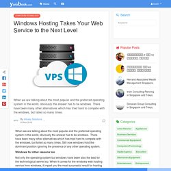 Windows Hosting Takes Your Web Service to the Next Level