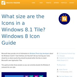 Windows 8 Icon Size Guide - Great Tips for Windows 8 Icons