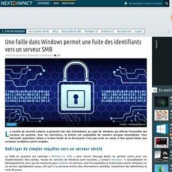 Une faille dans Windows permet une fuite des identifiants vers un serveur SMB