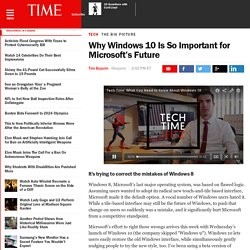 Why Windows 10 Is So Important for Microsoft's Future