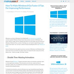 How To Make Windows 8 Go Faster: 8 Tips For Improving Performance - FrontMotion Firefox