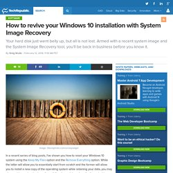 How to revive your Windows 10 installation with System Image Recovery